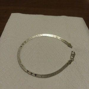 """Jewelry - Genuine 7.25"""" Italy.925SS Love Bracelet."""